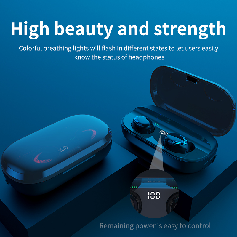 cheapest Bluetooth 5 0 Earphones 3000mAh Charging Box TWS Wireless Headphone 9D Stereo Sports Waterproof Earbuds Headsets With Microphone