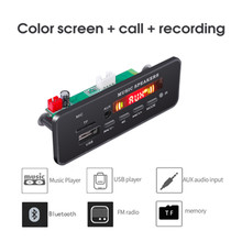 KEBIDU DC 12V Bluetooth MP3 WMA Decoder Board Audio Modul USB TF FM Radio AUX 5V MP3 Player handfree Für Auto Unterstützung Aufnahme(China)