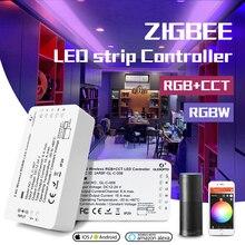 GLEDOPTO DC12 24V RGB + CCT/rgbw Zigbee חכם LED רצועת בקר קול שליטה לעבוד עם הד בתוספת smartThings ZIGBEE 3.0 רכזת