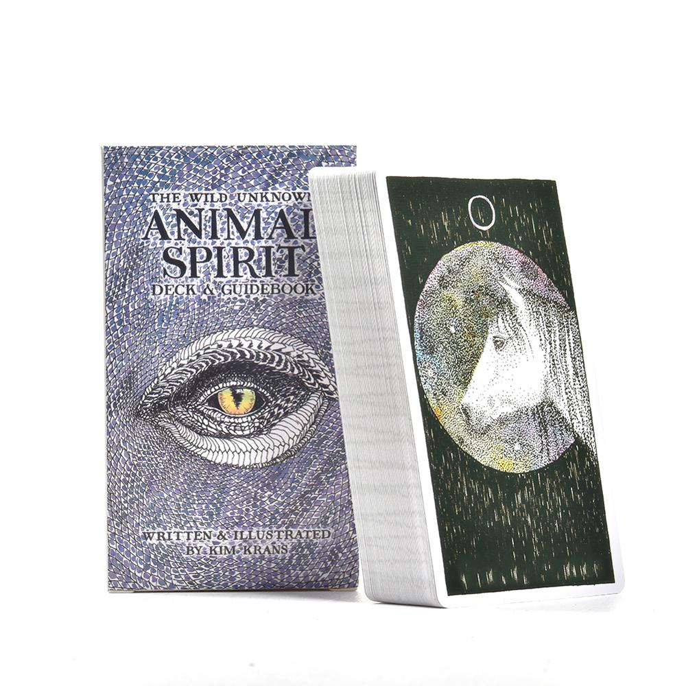 63Pcs English Tarot Deck For The Wild Unknown Animal Spirit Guidebook Tarot Cards Board Game Playing Game Card For Family Party