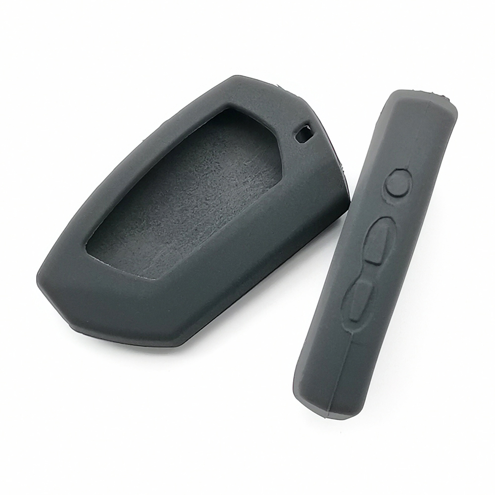 DXL4950 Silicone Key Case Fob For Pandora DX-90BT DX-91Lora Russia Version Two Way Car Remote 2 Way LCD Remote  Alarm Cover