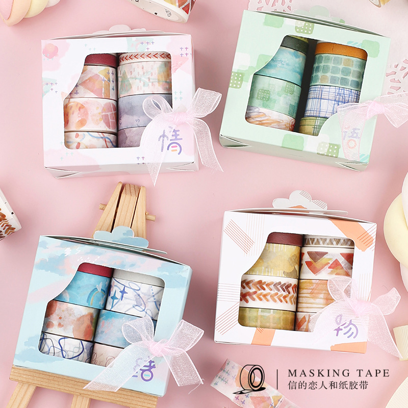 10roll/1lot Washi Masking Tapes Girl Mind Decorative Adhesive Scrapbooking DIY Paper Japanese Stickers