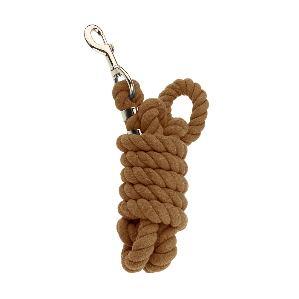 Braided Durable Extra Thick Equipment Weave Rein Training Cotton Blend Equestrian With Snap Hook Riding Halters Horse Lead Rope