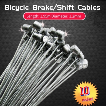 цена на Bike Accessories Brake Line Shift Cables Road MTB Bike Bicycle Fixed Gear Brake Cable Shift Line Wire Steel Cycling Bicycle Part