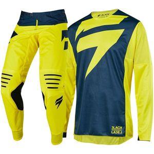 NEW Shift MX Navy Yellow Motocross Jersey Pants Motorcycle Gear Set(China)