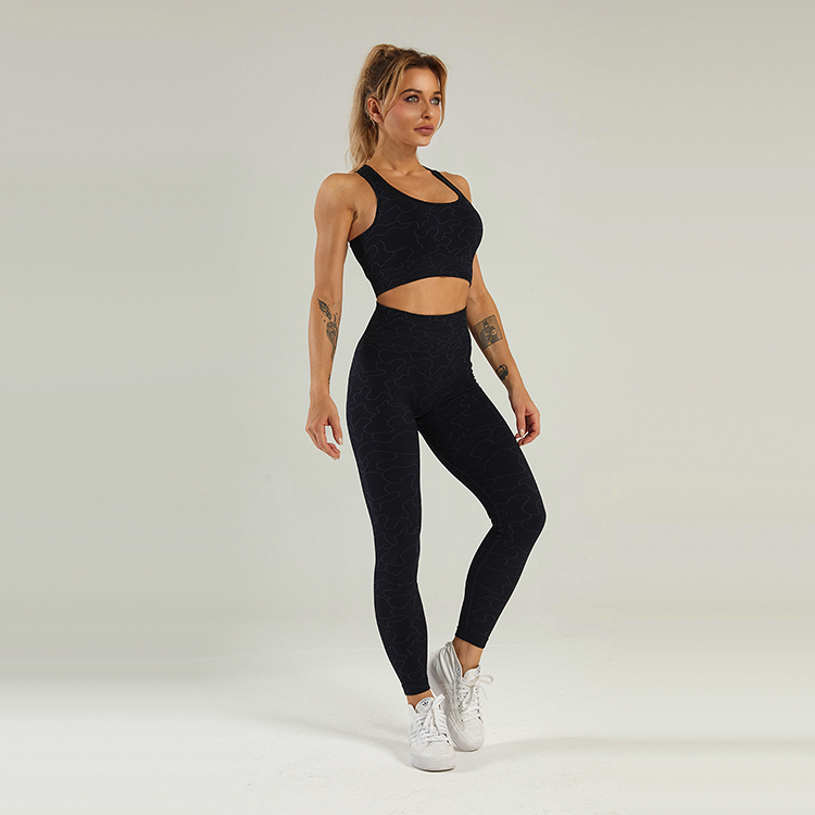 Line art seamless gym leggings