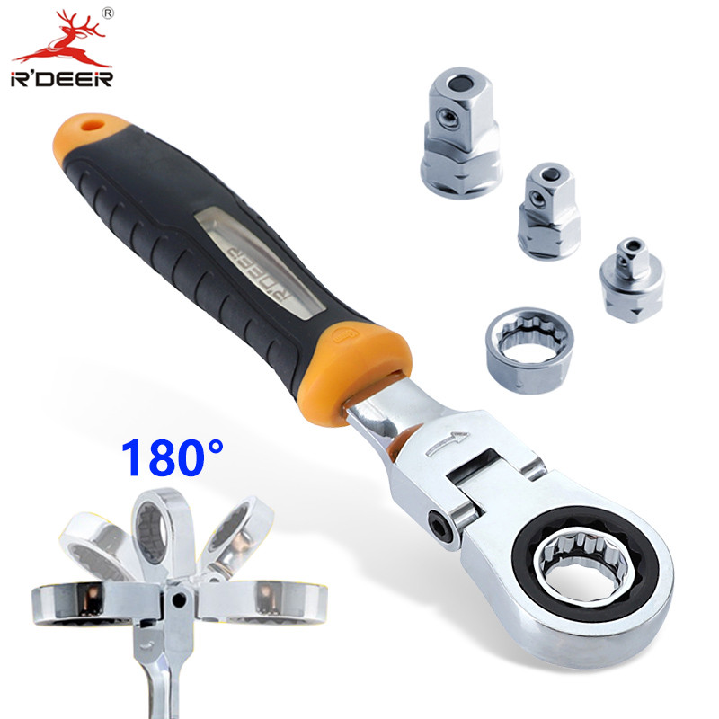 RDEER Ratchet Wrench Set Adjustable Wrench With 1/4