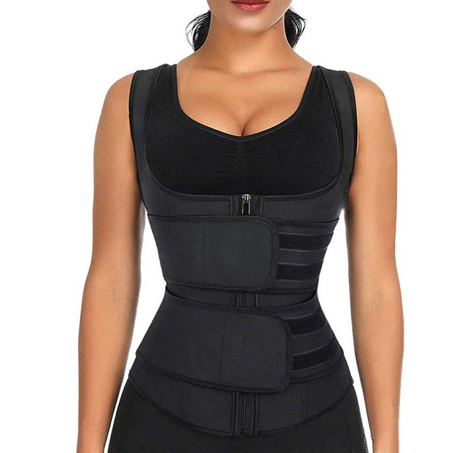 Neoprene Shaper Waist Trainer Double Waist Corset Sweat Slimming Belt for Women Weight Loss Compression Trimmer Workout Fitness 1