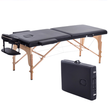 Beauty-Bed Massage-Tables Salon Furniture Folding Portable Spa with Bag Wooden 180cm-Length