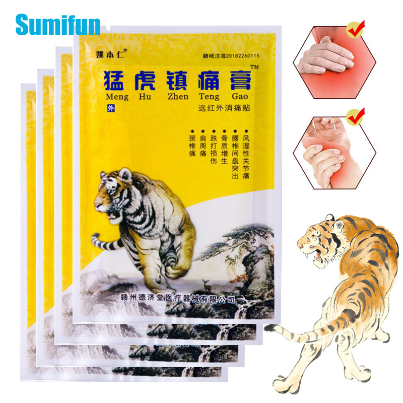 40pcs/5bags Tiger Balm Plaster Pain Relief Patch Body Relaxation Joint Muscle Back Medical Arthritis Stickers Health Care C1575