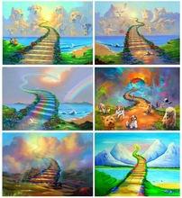 Diy bridge rainbow 5d diamond painting full square/round drill