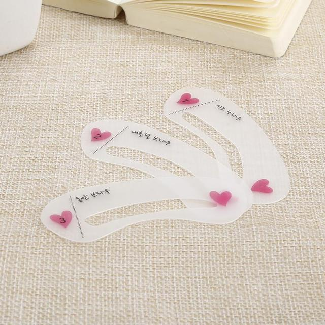 3 Styles Eyebrow Stencils Drawing Gguide Card Professional Eyebrow Template DIY Makeup Tools Pro Reusable Eyebrow Stencil Set 4