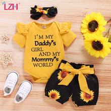 Clothing Outfit Girls-Sets Sunflower-Print Infant-Suits Newborn Cotton Kids Fashion Summer