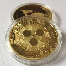 Позолоченная волнистая монета XRP для коллекционеров XRP, сувениры для творчества, подарок