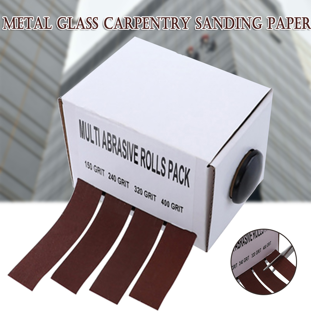 Abrasive Paper Sandpaper With Dispenser Drawable Emery Cloth Roll Metal Glass Carpentry Sand Paper Best Price