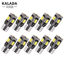 10pcs Super Bright Canbus Error Free T10 w5w 194 Car Led Light Vehicle Lamp Yellow Red Warm White Ice Blue 12V DC For Auto Bulbs