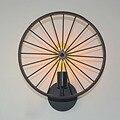 Rad Wand Lampe Einzel kopf Retro Treppen Flur Korridor Wand Lampe Kreative Restaurant Vintage Eisen Kunst Cool Art Lampen-in Einbauleuchte aus Licht & Beleuchtung bei