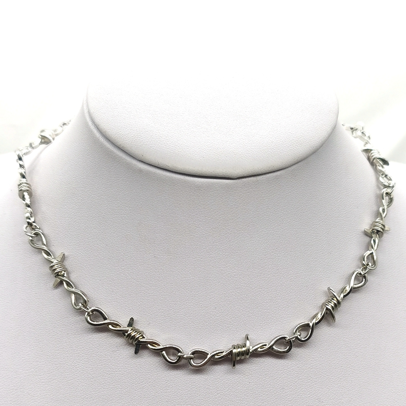 Small wire Brambles Iron Unisex Choker  Necklace Women Hip hop Gothic  Punk Style Barbed Wire Little thorns Chain Choker Gifts