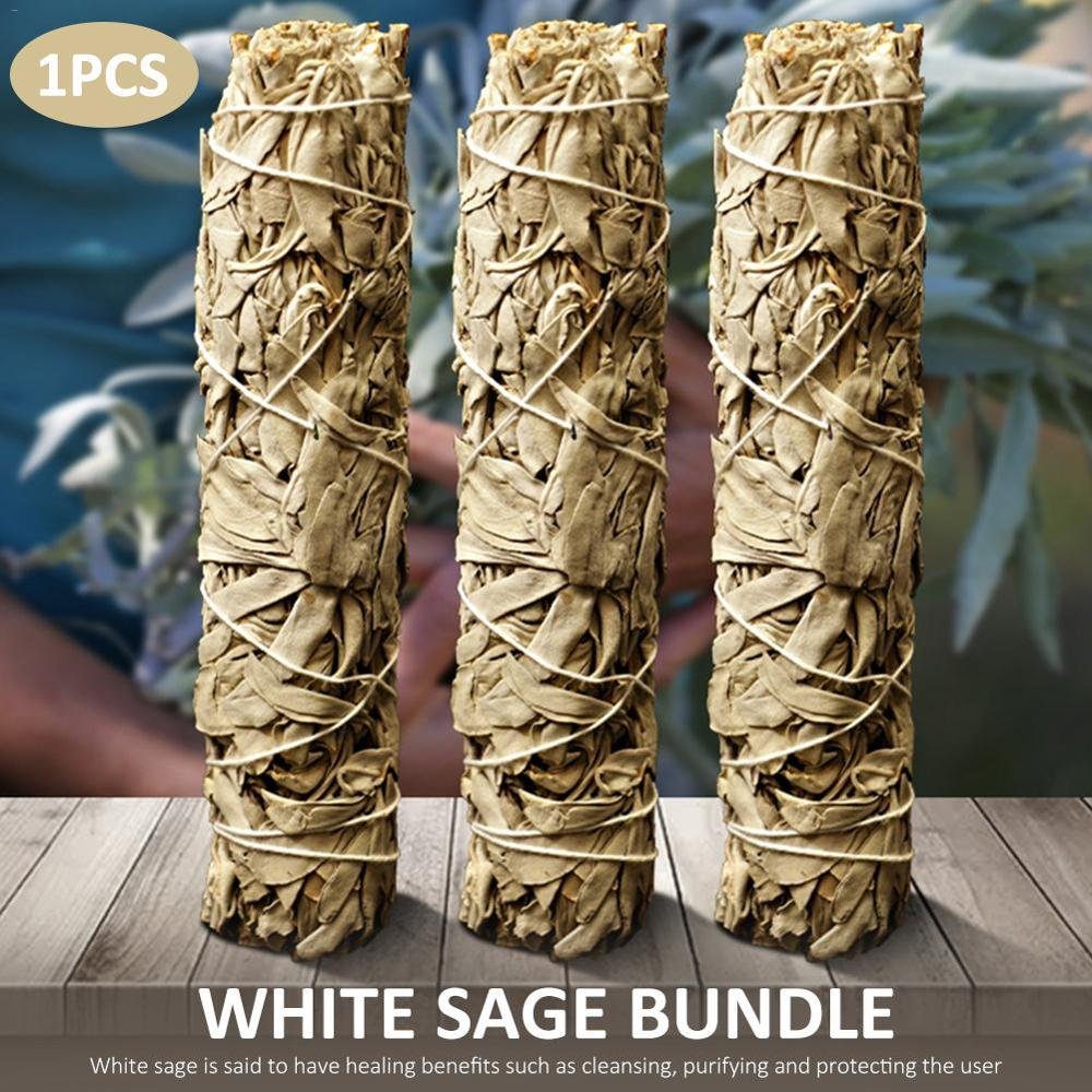White Sage Bundle Smudge Stick Purification Home Air Fresheners Spiritual Incense Burning For Healing Meditation Air Freshner