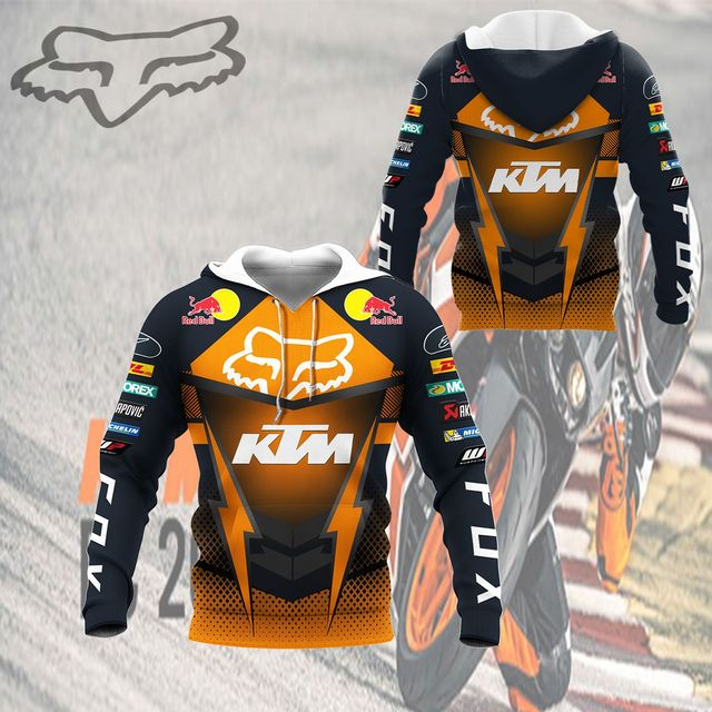 Hoodie sweatshirtMen's Hoodie Brand New 3D Digital Print Hoodie Casual Jacket Spring Autumn Motorcycle