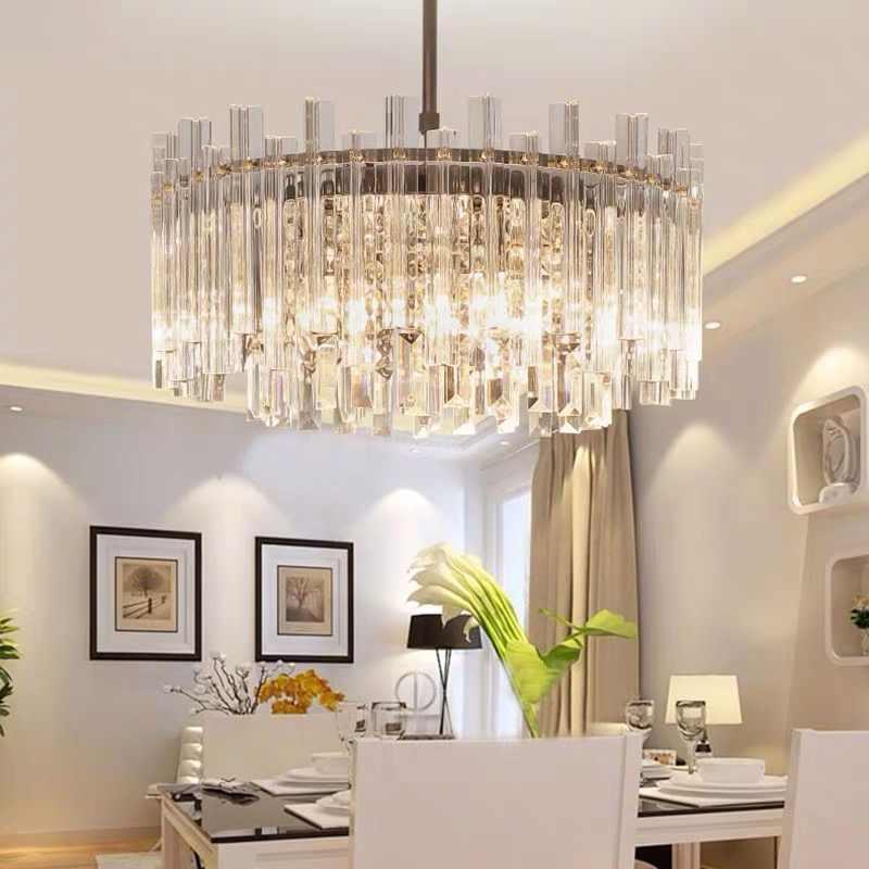 Moderne Runde Led Licht Kronleuchter Luxus Klar Kristall Lampenschirm Lampe Fur Wohnzimmer Beleuchtung Kronleuchter Decke Leuchten Kronleuchter Aliexpress