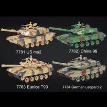 Kids 778-1/2/3/4 Simulation 1:24 RC Battle Tank Toys Crawler Light Remote Control Heavy Machine Tanks Toys For Children Gift huanqi rc tank toy crawler simulation two infrared radio remote control twin battle tank set rc cars for children boy gift