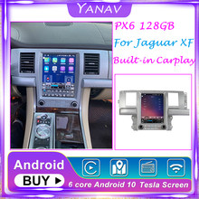 12,1 zoll 128G Android 10 Tesla Bildschirm Navigation Auto Multimedia Radio Player Für Jaguar XF 2004-2015 gebaut in carplay kopf einheit