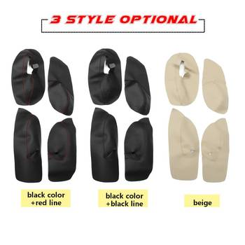 Hot 4PCS Car Protective Interior Door Panel Microfibre Leather Cover Accessory For Volkswagen Bora Golf 4 2002 2003 2004 05 06