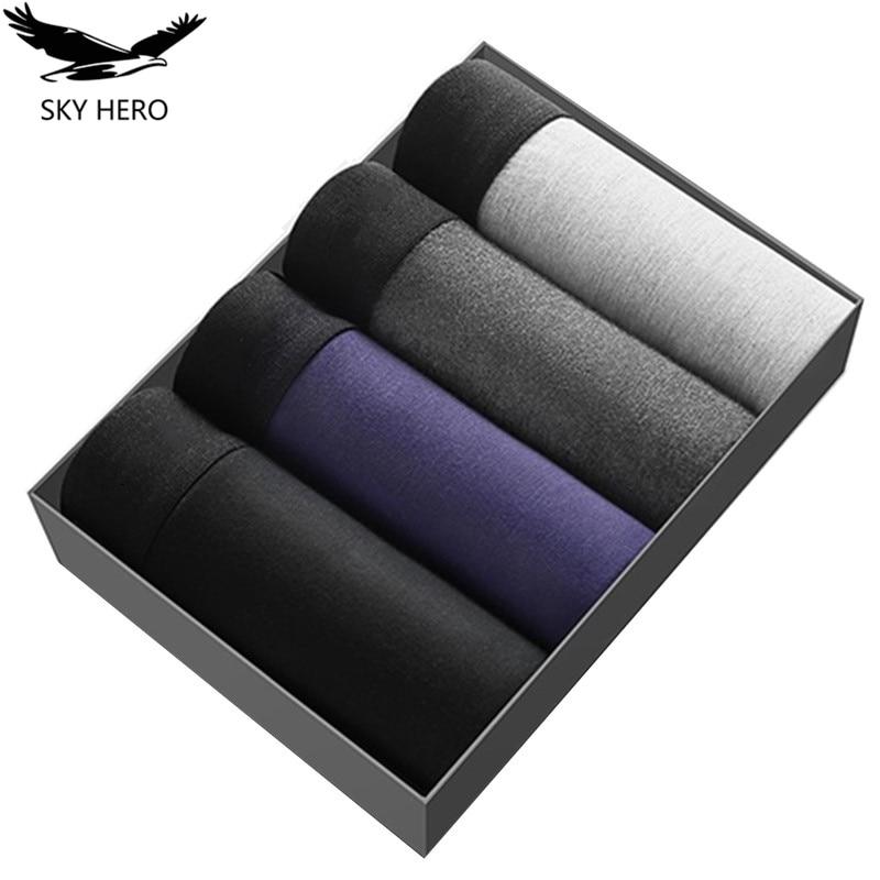 4pcs/lot Male Panties Modal Boxers Underwear Comfortable Breathable Men's Underpants Trunk Brand Shorts Man Boxer