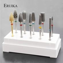 ERUIKA 10 стилей выбор карбида вольфрама фрезы для ногтей пилка для маникюра аксессуары для дизайна ногтей