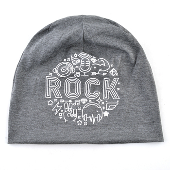 Autumn Soft Bonnet Beanies For Men And Women New Fashion Hats Hip Hop Rock Skullies Beanies Solid Color Printing Letter Gorras 2