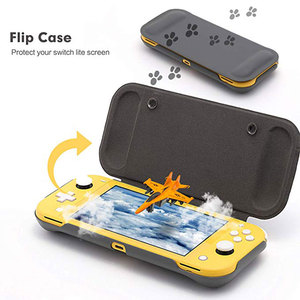 Image 2 - Switch Lite Protection Case Non slip Scratch Game Grip Case Cover PC Leather Shell For Nintend Switch Lite Console Accessories