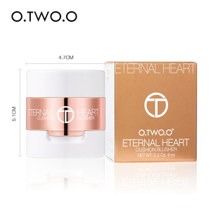 Image 5 - O.TWO.O Air Cushion Blusher Folding Heart Shape Shimmer Blush Rouge 4 Colors Easy To Wear Natural Face Contour Make Up
