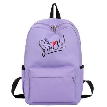 цена на Canvas girl School Bag backpack bookbag 2020 Teenagers Laptop Bag women Travel Backpack Rucksack Mochila new Fashion