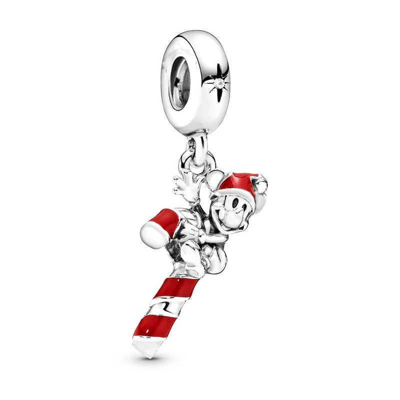 Baopon 2 Cái/lốc Giáng Sinh Loạt Hạt Charm Mặt Dây Chuyền Phù Hợp Với Vòng Tay Pandora Dây Chuyền Nữ DIY Jewerly Làm Quà Tặng Giáng Sinh