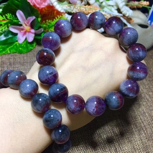 Image 5 - Genuine Natural Auralite 23 Round Beads Bracelet 12mm 13mm 14mm Natural Stone Bracelets Women Lady Stretch Healing Crystal