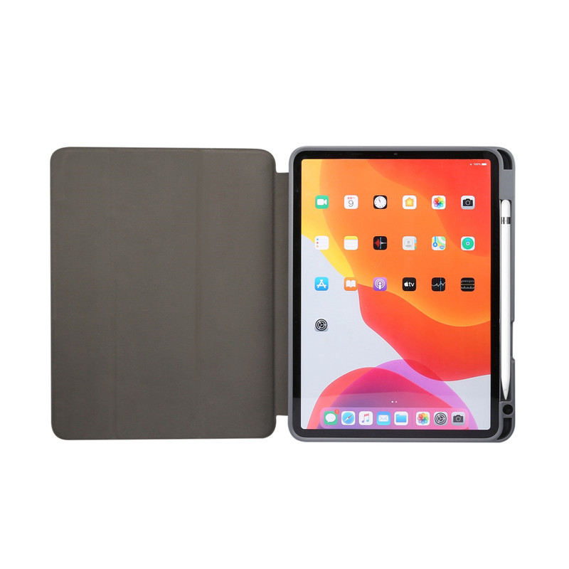 for iPad Pencil-Holder Air Slot Shell with Fundas Apple Tablet-Case Shell Fold-Cover