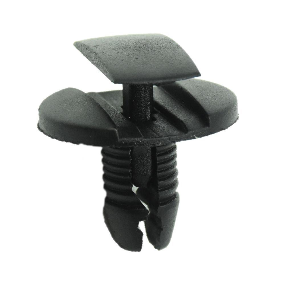 50 шт. крепеж для Peugeot Citroen, заклепки для бампера, крыла, фиксированный зажим, черный пластиковый фиксатор