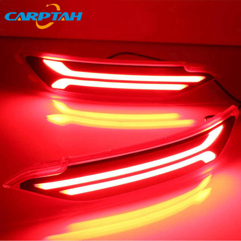 2 Pcs Led Mistachterlicht Voor Hyundai Tucson 2015 2016 2017 2018 Auto Led Bumper Brake Light Turn signaal Indicator Reflector