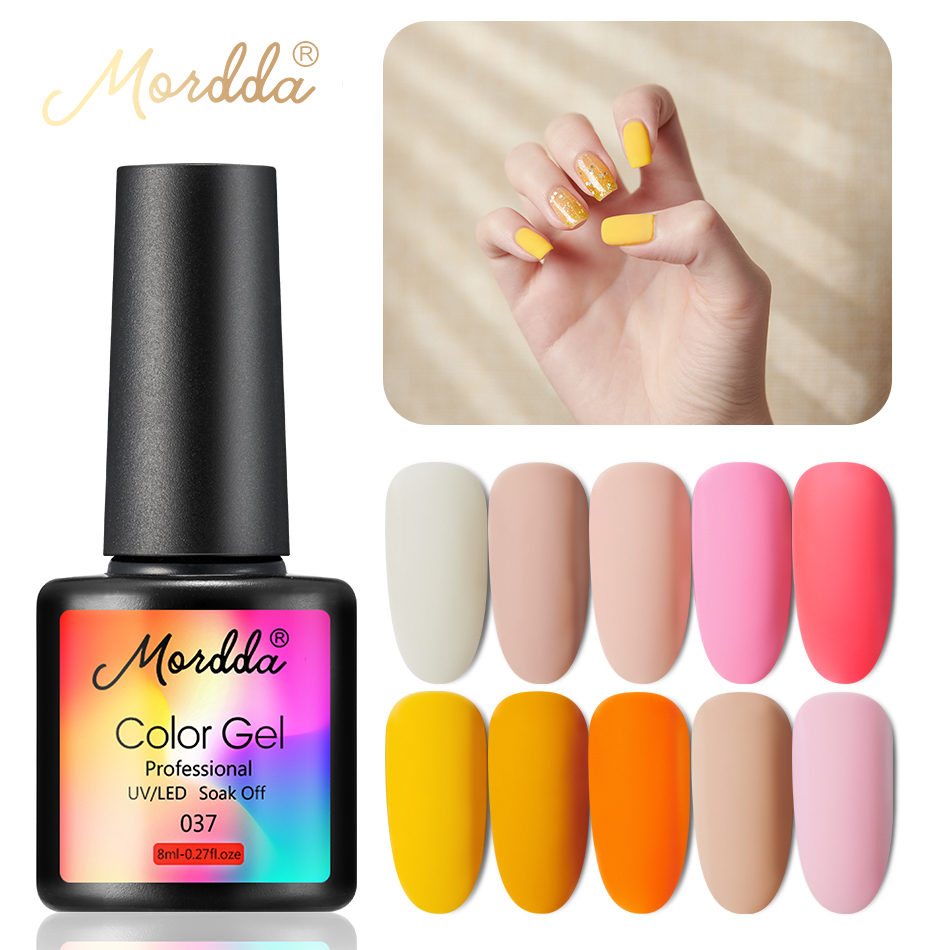 MORDDA Gel Polish For Manicure UV LED 8 Ml Gel Nail Varnish Hybrid Gel Lacquer Soak Off Gel Paint Nail Art Tools For Nail Beauty