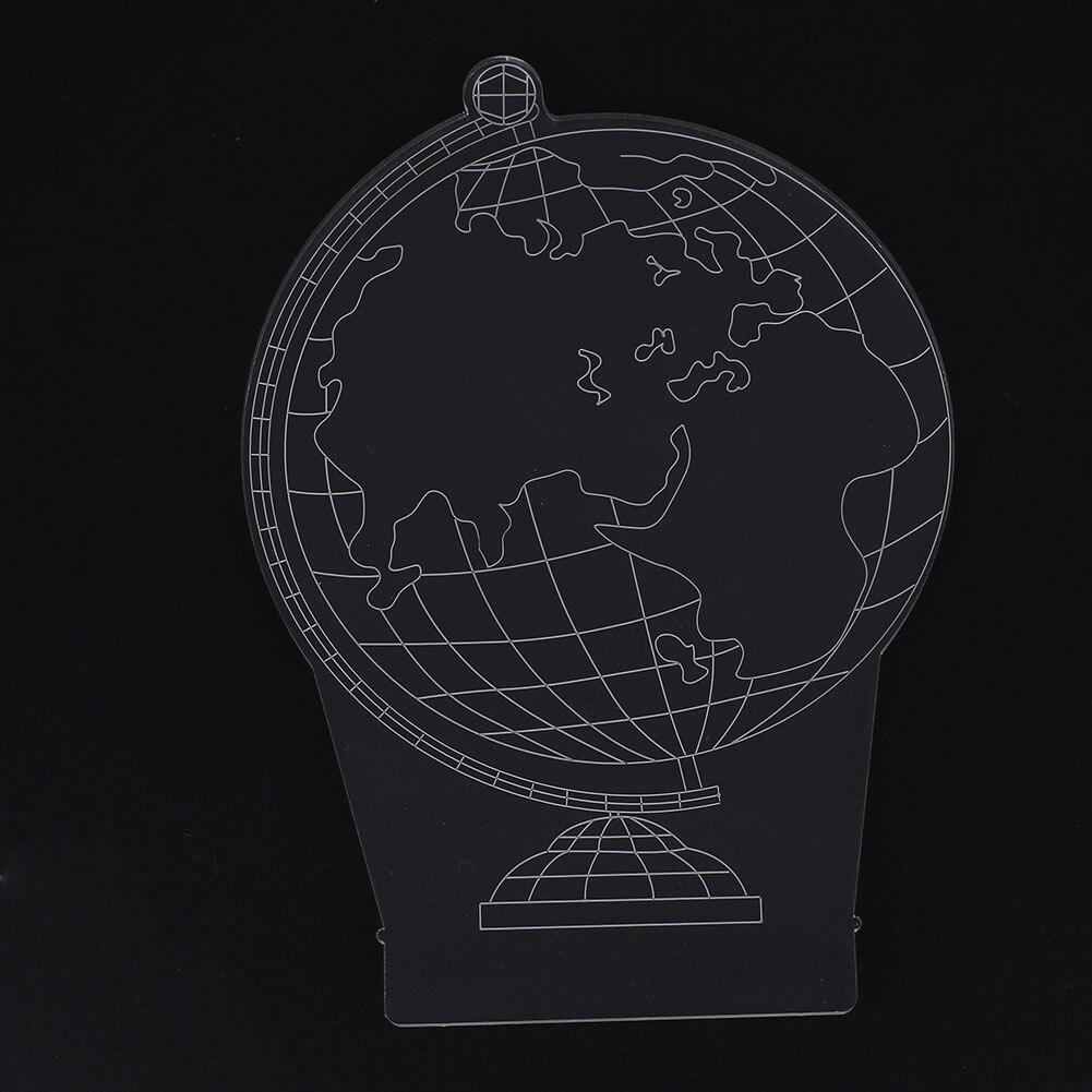 USB светодиодный Ночной светильник, настольные лампы, узор земли, Рождественское украшение комнаты, 3W
