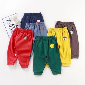 2021 cartoon dziecięce spodnie bawełniane chłopięce spodnie dresowe damskie dziecko wiosna i spodnie na jesień dziecięce spodnie dziecięce solid color tanie i dobre opinie Angel elves CN (pochodzenie) Wiosna i jesień Dziecko dla obu płci 13-24m 25-36m 4-6y W stylu rysunkowym baby REGULAR Pełna długość