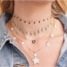Blau Emaille Gold blitz Bolzen baumeln charme halsband halskette 925 sterling silber sommer mode schmuck