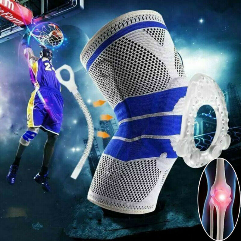 2019 Brand New Style Silicone Spring Knee Brace Sport Support Strong Meniscus Protection Compression