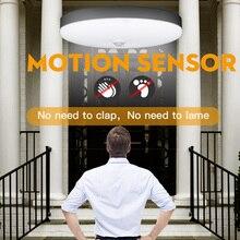 Luz Led con Sensor de movimiento, 220V, 5W, 9W, 12W, 18W, luz nocturna PIR con Sensor de movimiento, Apagado automático para iluminación para escalera de pasillo