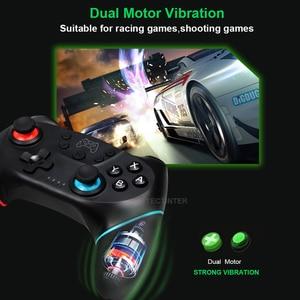 Image 5 - Gamepad sem fio bluetooth para nintendo switch pro ns switch pro controlador de joystick de jogo para console de interruptor com alça de 6 eixos