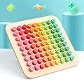 Детские деревянные девять-девять формул умножения Таблица начальной школы математическая игрушка арифметическая доска обучающая игрушка
