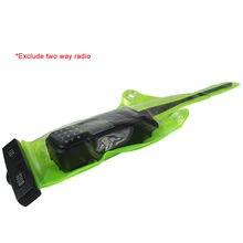 Водонепроницаемый Зеленый Радио Сумка Набор Чехол протектор для Walkie Talkie 36X11 см бренд и высокое качество