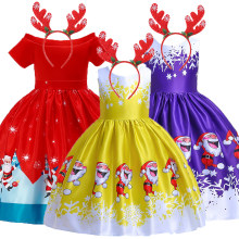 2020 Baby Girl embroidery Silk Princess Dress for Wedding party Kids Dresses for Toddler Girl Children Moana Christmas Clothing(China)