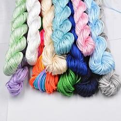 Новый 30 цвета 1,0 мм 22 м нейлоновый шнур китайский узел макраме Rattai плетеный строка DIY для изготовления ювелирных изделий браслет и цепочки